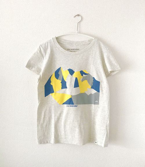 Tシャツ(and wander)